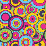 Psychedelic circles seamless pattern, Stock Photography