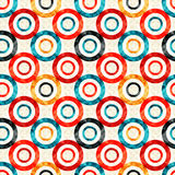 Psychedelic circles on a white background geometric seamless pattern Stock Photography