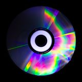 Psychedelic color. The light reflected from a CD is a collection of psychedelic colors Stock Images