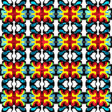 Psychedelic color seamless pattern vintage ethnic ornament on white background Royalty Free Stock Image