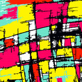 Psychedelic colored graffiti pattern vector illustration Stock Photos