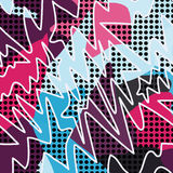 Psychedelic colored graffiti pattern vector illustration Royalty Free Stock Photos