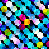 Psychedelic colored polygons abstract geometric background Stock Photography