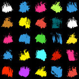 Psychedelic colored spots graffiti Set Stock Images