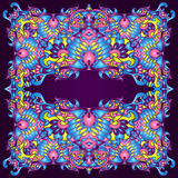 Psychedelic Colorful Abstract Background frame Royalty Free Stock Photos