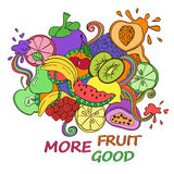 Psychedelic colorful fruits background. Royalty Free Stock Image