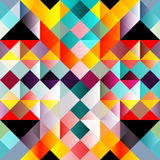 Psychedelic colorful geometric seamless pattern. (vector eps 10 vector illustration
