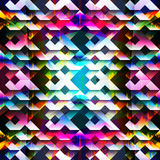 Psychedelic colorful geometric seamless pattern. (vector eps 10 stock illustration