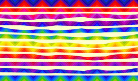 Psychedelic colorful stripes for banners Stock Image