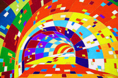 Psychedelic colorful tunnel. Psychedelic colorful painted tunnel background Stock Photos