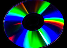 Psychedelic colors. The light reflected from a CD is a collection of psychedelic colors Royalty Free Stock Images