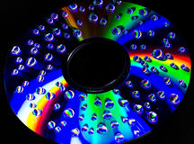Psychedelic colors. The light reflected from a CD is a collection of psychedelic colors Royalty Free Stock Photography