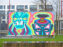 Psychedelic colourful graffiti Royalty Free Stock Photography