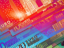 Psychedelic currency Stock Photography