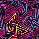 Psychedelic curves seamless pattern Royalty Free Stock Photos