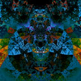 Psychedelic darth vader art. Beautiful illustration. Futuristic background. Abstract art pattern. Artistic computer backdrops. Psychedelic darth vader art Stock Image