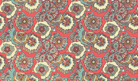 Psychedelic doodle seamless pattern Royalty Free Stock Photos