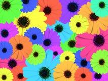 psychedelic färgrik illustration royaltyfri illustrationer