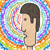 Psychedelic face Royalty Free Stock Images