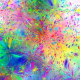 Psychedelic Fireworks Royalty Free Stock Photo