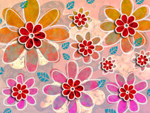 Psychedelic Flower Art Pattern Stock Photo