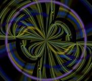 Psychedelic fractal απεικονίσεων φουτουριστικός γεωμετρικός ζωηρόχρωμος διανυσματική απεικόνιση