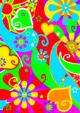 psychedelic funkspår stock illustrationer