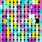 Psychedelic geometric abstract pattern grunge texture Stock Images
