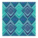 Geometric Pattern Blue and turquoise royalty free illustration