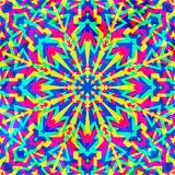 Psychedelic geometric seamless pattern. (eps 10 Vector Illustration