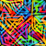 Psychedelic geometric seamless pattern. (eps 10 vector file Stock Illustration