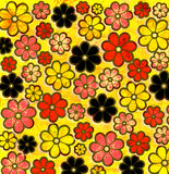 Psychedelic graffiti Flower Art Pattern stock illustration