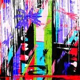 Psychedelic graffiti grunge pattern texture vector illustration Stock Photo