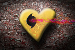 Psychedelic heart. A message to love for all lovers in the world Royalty Free Illustration