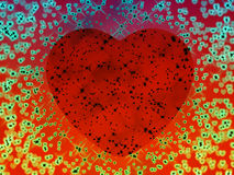 Psychedelic heart Stock Images