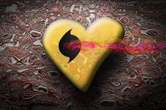 psychedelic hjärta Arkivbilder