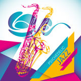 Psychedelic jazz background. Royalty Free Stock Images