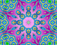 Psychedelic kaleidoscope Royalty Free Stock Photo