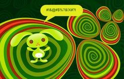 psychedelic kanin vektor illustrationer