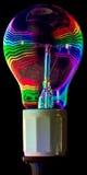 Psychedelic lightbulb Arkivfoton