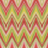 Psychedelic linear zigzag pattern. Seamless vector background, or fabric in natural organic colors Royalty Free Stock Photography
