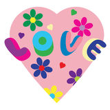 Psychedelic Love Heart Royalty Free Stock Photography