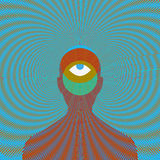 Psychedelic magic man with eye. Psychedelic magic man with eye Royalty Free Stock Image
