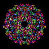 Psychedelic mandala round royalty free illustration