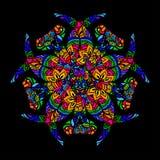 Psychedelic mandala round Royalty Free Stock Images