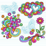 Psychedelic Notebook Doodle Design Elements Vector Royalty Free Stock Photo
