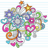 Psychedelic Notebook Doodle Vector Royalty Free Stock Images