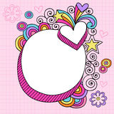 Psychedelic Oval Notebook Doodle Vector Royalty Free Stock Photography