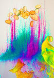 Psychedelic paint background Royalty Free Stock Image