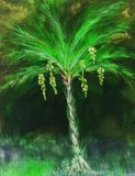 Psychedelic palm tree with dates.